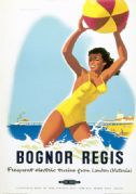Bognor Regis, Sussex. Vintage BR Travel poster by Alan Durman. 1950's
